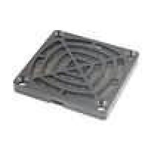 Mřížka s filtrem 60x60mm Mat plast Upevnění zacvaknutí, šroub