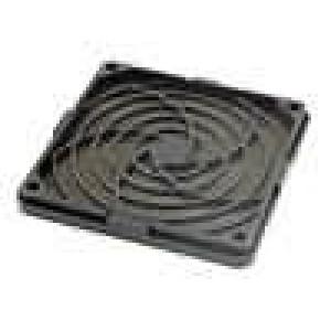 Mřížka s filtrem 92x92mm Mat plast Upevnění zacvaknutí, šroub