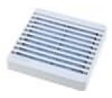 Mřížka s filtrem 80x80mm Mat plast upevnění šroubem barva šedá