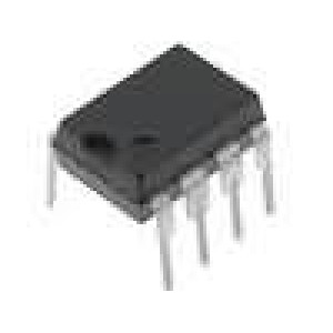 6N136 Optočlen THT Kanály:1 tranzistorový výstup 2,5kV/μs 1Mb/s DIP8