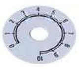 Stupnice rozsah:0 až 10 Ø38mm průměr otvoru 10mm