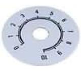 Stupnice rozsah:0 až 10 Ø50mm průměr otvoru 10mm
