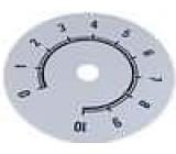 Stupnice rozsah:0 až 10 Ø80mm průměr otvoru 10mm