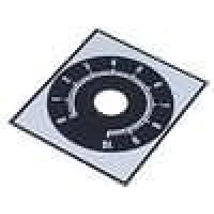 Stupnice rozsah:0 až 10 48x42mm průměr otvoru 10mm