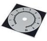 Stupnice rozsah:0 až 10 84x84mm průměr otvoru 10mm