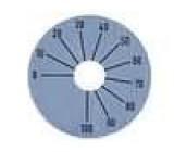 Stupnice rozsah:270°0 až 100 Ø45mm průměr otvoru 10mm