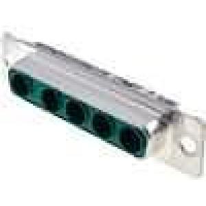 Zástrčka speciální D-Sub PIN:5(5+0) zásuvka pájení na kabel
