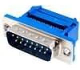 Zástrčka D-Sub 15 PIN vidlice IDC na plochý kabel UNC4-40