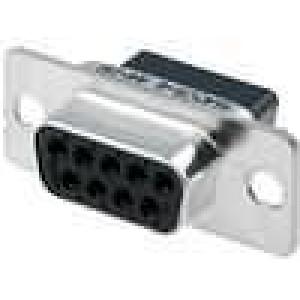 D-Sub 9 PIN zásuvka bez kontaktů na kabel B:7,9mm C:25mm