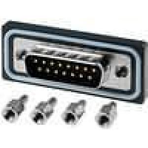 Zásuvka D-Sub ED-EHD 15 PIN vidlice zajištění šroubky přímý
