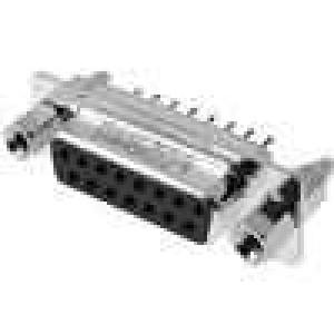 Zásuvka D-Sub 15 PIN zásuvka se šroubem se závitem přímý THT