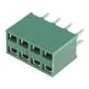 Zásuvka kolíkové HV-100 zásuvka 8 PIN přímý 2,54mm THT 2x4