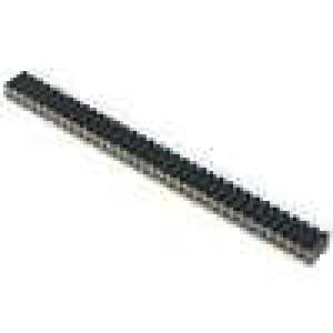 Zásuvka kolíkové zásuvka PIN:72 přímý 2,54mm THT 2x36 H:7mm