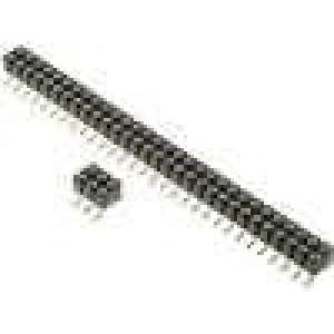 Zásuvka kolíkové zásuvka PIN:2 točené kontakty svislý 2,54mm