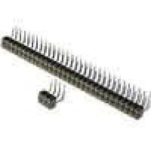 Zásuvka kolíkové zásuvka PIN:40 točené kontakty úhlové 90°