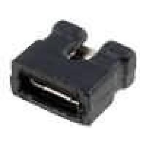 Propojka kolíkové zásuvka otevřené 2mm 1x2 černá