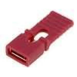 Propojka kolíkové zásuvka s držákem 2,54mm 1x2 červená