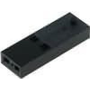 Zástrčka kolíkové C-Grid III zásuvka PIN:2 bez kontaktů 1x2