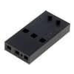 Zástrčka kolíkové C-Grid III zásuvka 3 PIN bez kontaktů 1x3