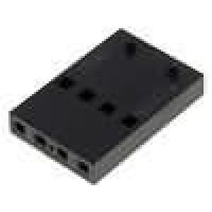 Zástrčka kolíkové C-Grid III zásuvka 4 PIN bez kontaktů 1x4