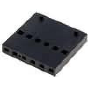 Zástrčka kolíkové C-Grid III zásuvka PIN:6 bez kontaktů 1x6