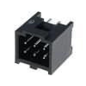 Zásuvka kolíkové C-Grid III vidlice PIN:6 přímý 2,54mm THT