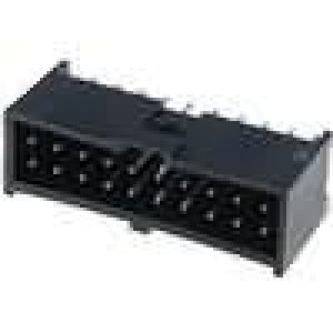 Zásuvka kolíkové C-Grid III vidlice PIN:20 přímý 2,54mm THT