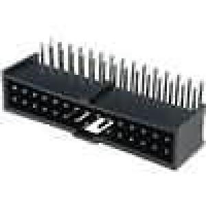 Zásuvka kolíkové C-Grid III vidlice PIN:30 úhlové 90° 2,54mm