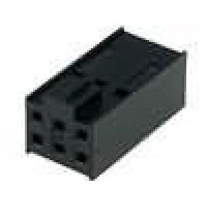 Zástrčka kolíkové C-Grid III zásuvka PIN:6 bez kontaktů 2x3