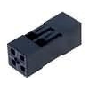 Zástrčka kolíkové NSR/NDR zásuvka 4 PIN bez kontaktů 2,54mm