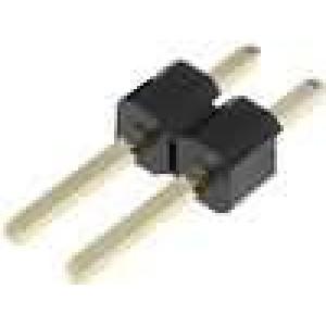 Kolíková lišta kolíkové vidlice PIN:2 přímý 2,54mm THT 1x2