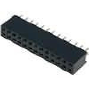 Zásuvka kolíkové zásuvka PIN:26 přímý 2,54mm THT 2x13 3A