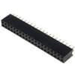 Zásuvka kolíkové zásuvka PIN:40 přímý 2,54mm THT 2x20 3A