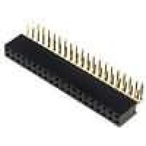 Zásuvka kolíkové zásuvka PIN:40 úhlové 90° 2,54mm THT 2x20