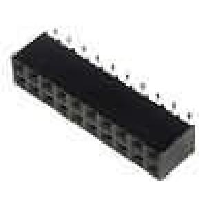 Zásuvka kolíkové zásuvka PIN:20 svislý 2,54mm SMT 2x10