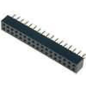 Zásuvka kolíkové zásuvka PIN:34 přímý 2mm THT 2x17 dél.2,5mm
