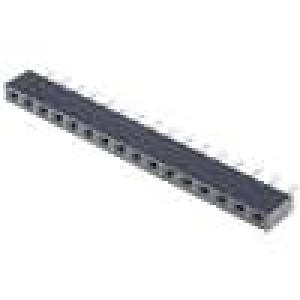 Zásuvka kolíkové zásuvka 16 PIN přímý nízký 2,54mm THT 1x16 3A