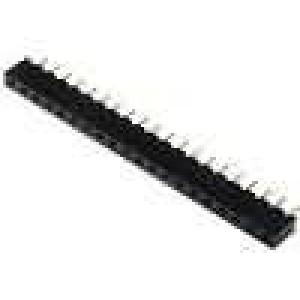 Zásuvka kolíkové zásuvka PIN:20 přímý 2,54mm THT 1x20 3A