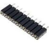 Zásuvka kolíkové zásuvka 10 PIN točené kontakty přímý 2,54mm