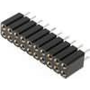 Zásuvka kolíkové zásuvka PIN:20 točené kontakty přímý 2,54mm