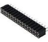 Zásuvka kolíkové zásuvka PIN:32 točené kontakty přímý 2,54mm