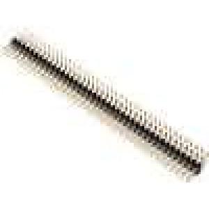 Kolíková lišta kolíkové vidlice PIN:80 úhlové 90° 2mm THT
