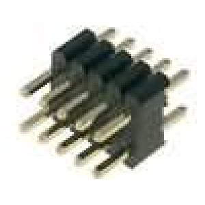 Kolíková lišta kolíkové vidlice 10 PIN přímý 1,27mm THT 2x5