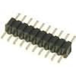 Kolíková lišta kolíkové vidlice 10 PIN přímý 1,27mm THT 1x10