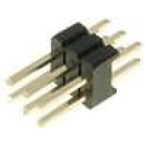Kolíková lišta kolíkové vidlice PIN:6 přímý 1,27mm THT 2x3