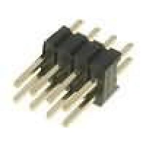 Kolíková lišta kolíkové vidlice 8 PIN přímý 1,27mm THT 2x4