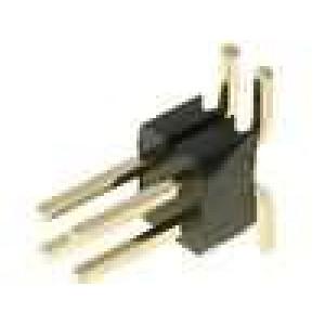 Kolíková lišta kolíkové vidlice 4 PIN svislý 1,27mm SMT 2x2