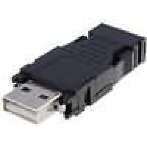 Zástrčka USB A na kabel pájení 4 PIN přímý