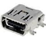 Zásuvka USB C mini SMT PIN:5 vodorovné