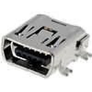 Zásuvka USB C mini SMT 5 PIN vodorovné